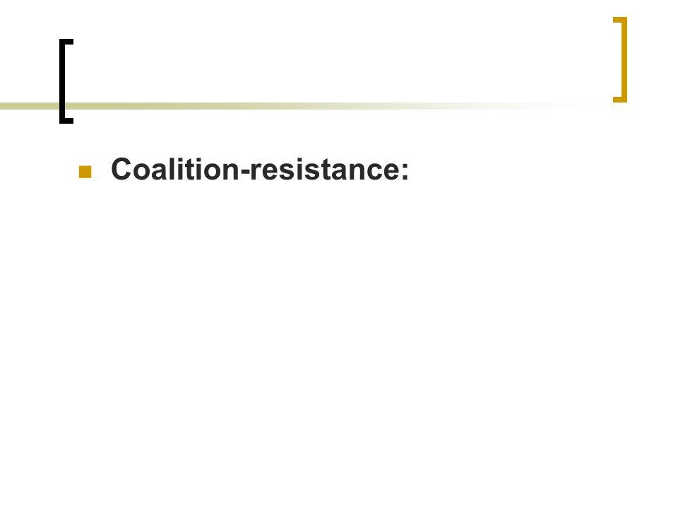 Coalition-resistance: