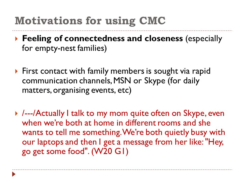  The oldest family members see themselves in the new media environment as observers rather than active content creators.