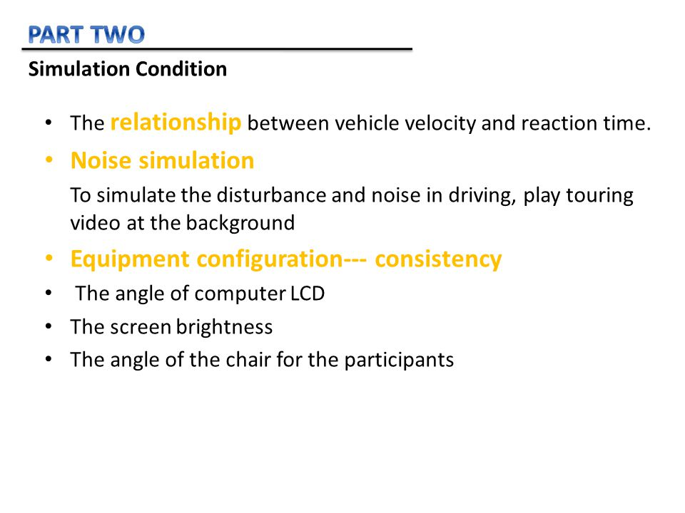 The relationship between vehicle velocity and reaction time.
