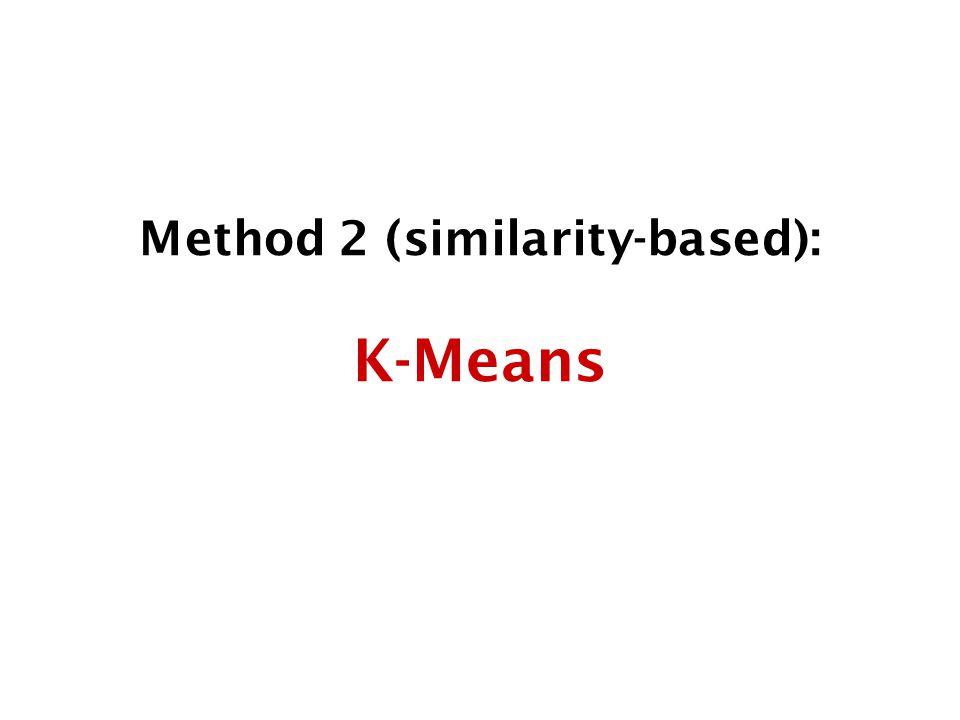 Method 2 (similarity-based): K-Means