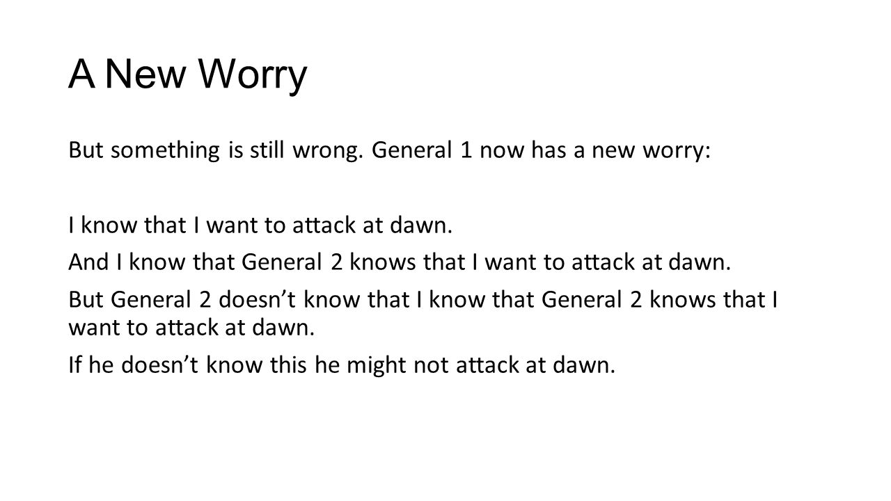 A New Worry But something is still wrong.