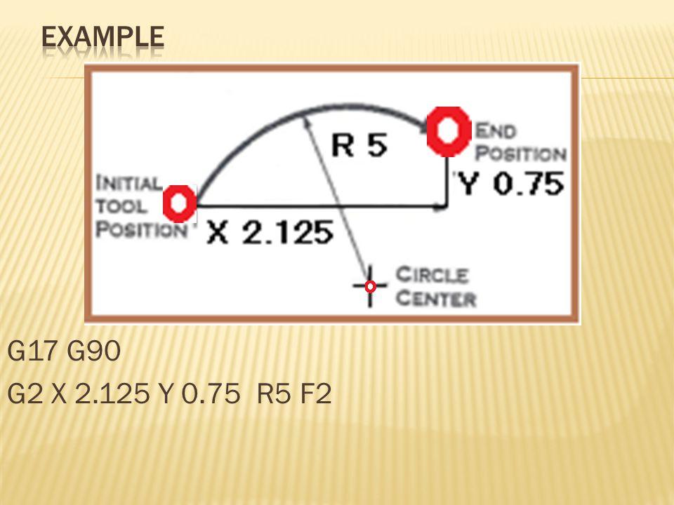 G17 G90 G2 X 2.125 Y 0.75 R5 F2