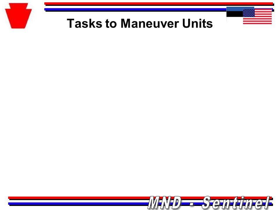 Tasks to Maneuver Units