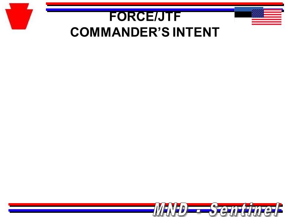 FORCE/JTF COMMANDER'S INTENT