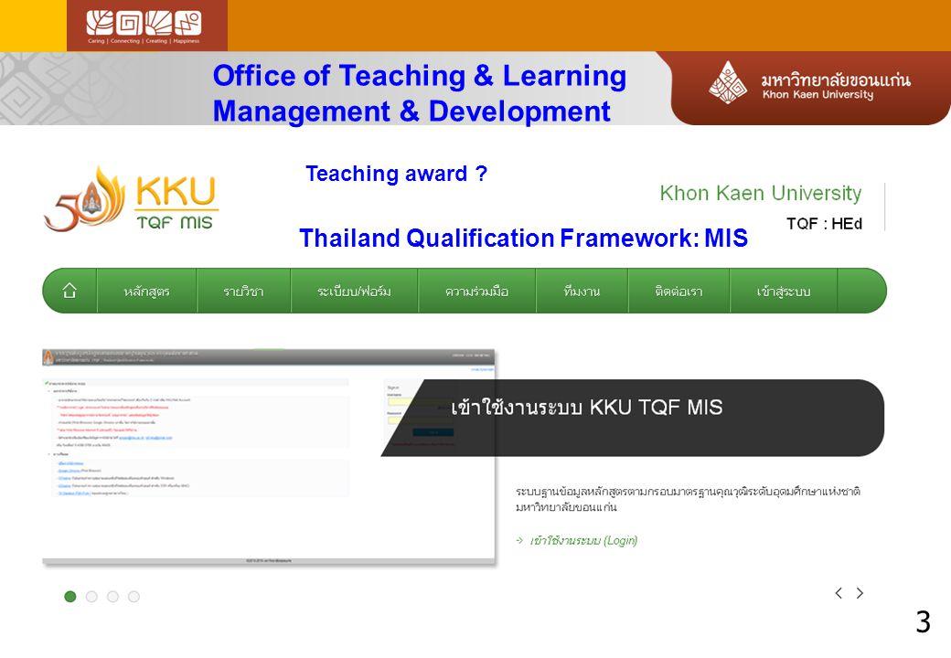4 KKU Quality Assurance Integrated criteria for Thai accreditation OHEC, ONESQA 23 + 18 KPIs
