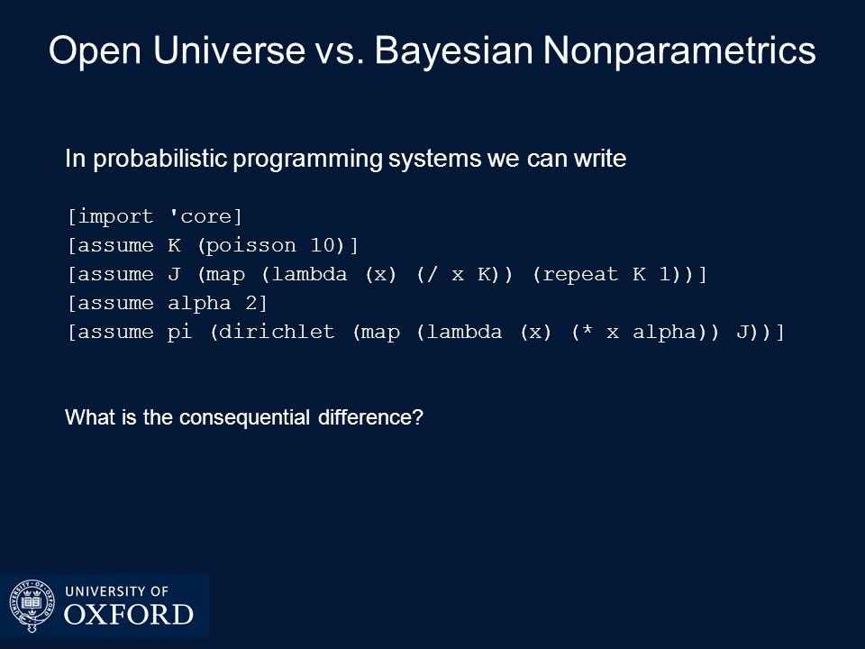 Open Universe vs.