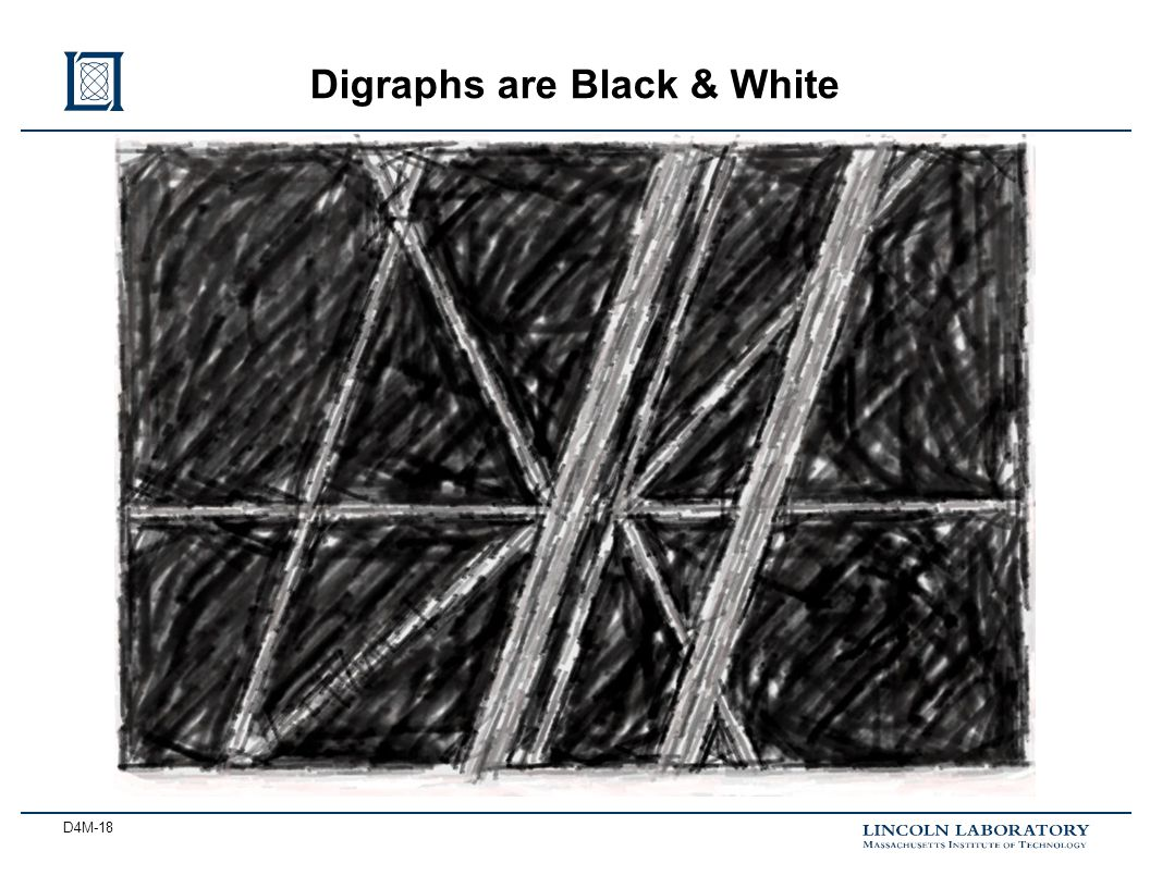 D4M-18 Digraphs are Black & White