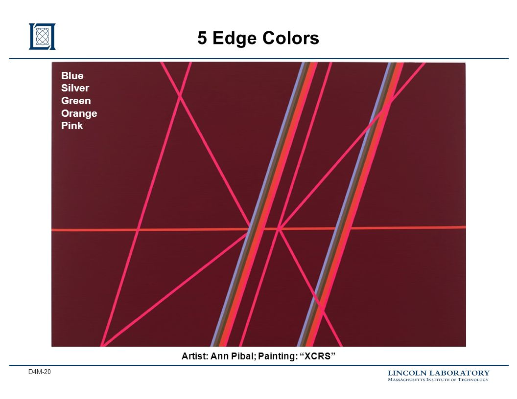 D4M-20 5 Edge Colors Artist: Ann Pibal; Painting: XCRS Blue Silver Green Orange Pink