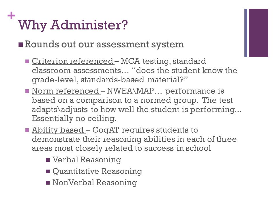 + Why Administer.