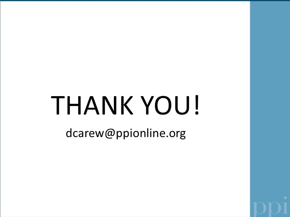 THANK YOU! dcarew@ppionline.org