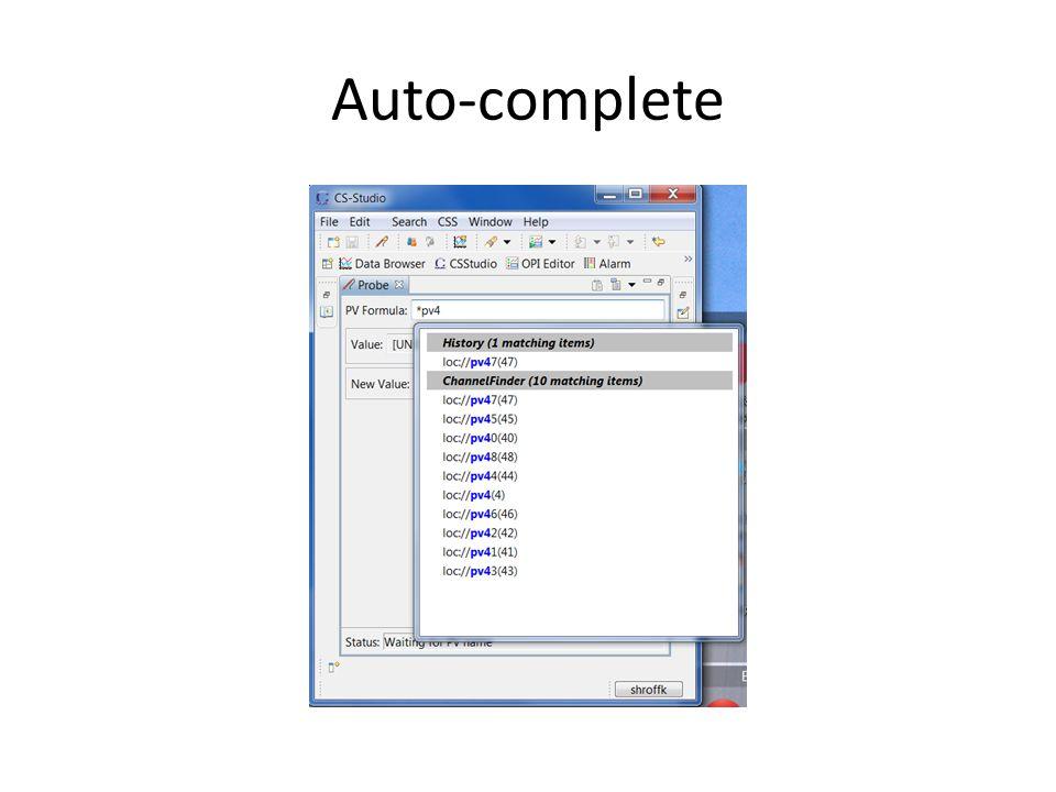 Auto-complete