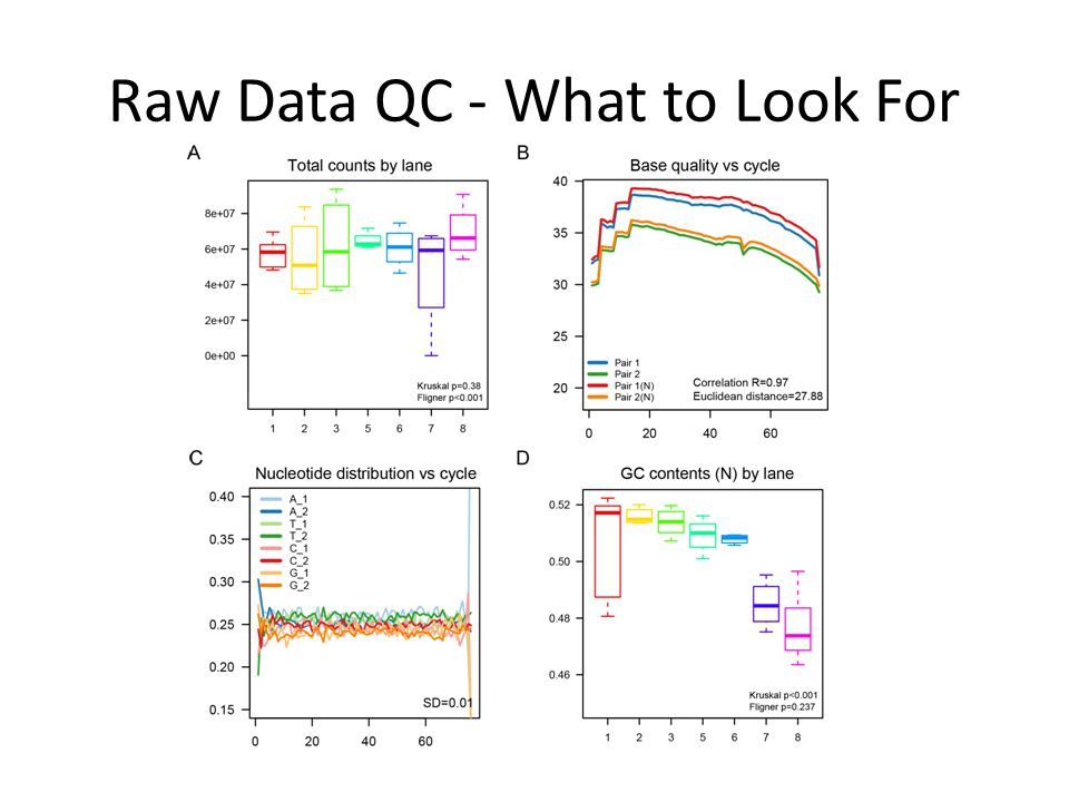 Raw Data QC - What to Look For