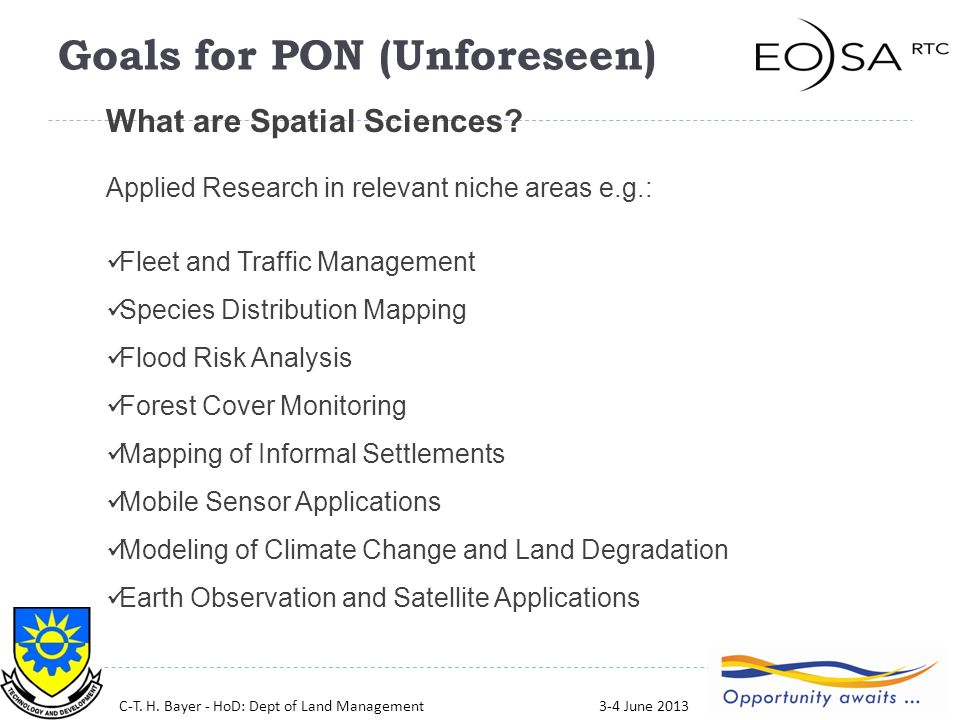 9 What are Spatial Sciences.