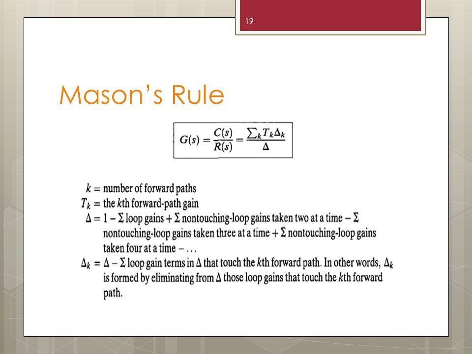 Mason's Rule 19