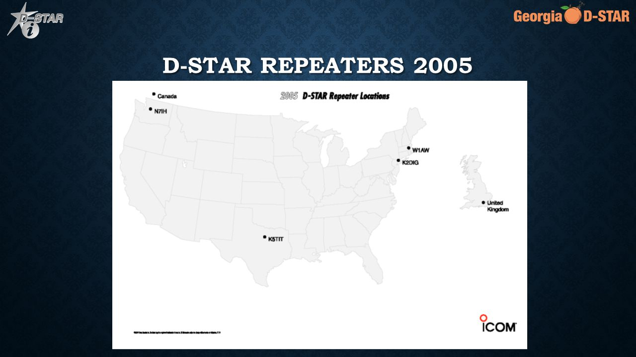 D-STAR REPEATERS 2005