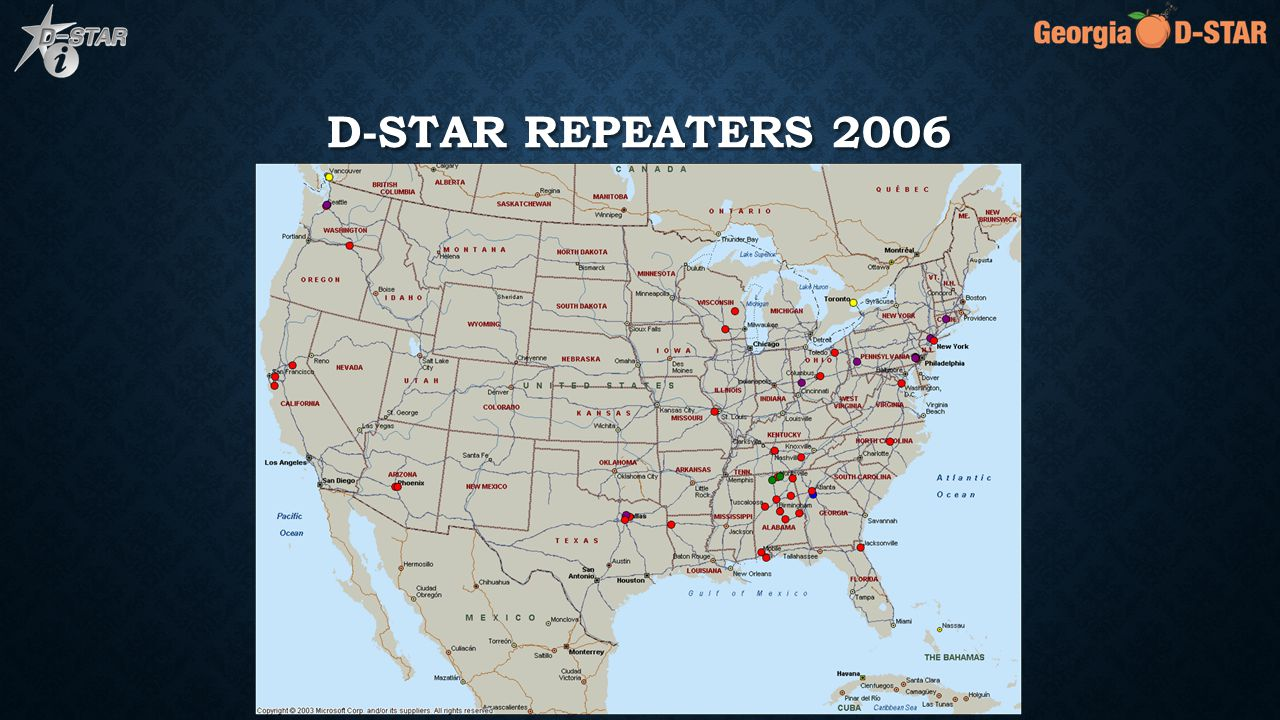 D-STAR REPEATERS 2007