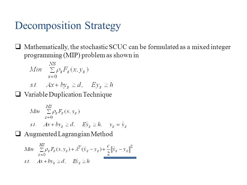 Algorithms for Parallel Solutions  Auxiliary Problem Principle (APP) Method  Diagonal Quadratic Approximation (DQA) Method  Alternating Direction Method of Multipliers (ADMM)  Analytical Target Cascading (ATC) Method