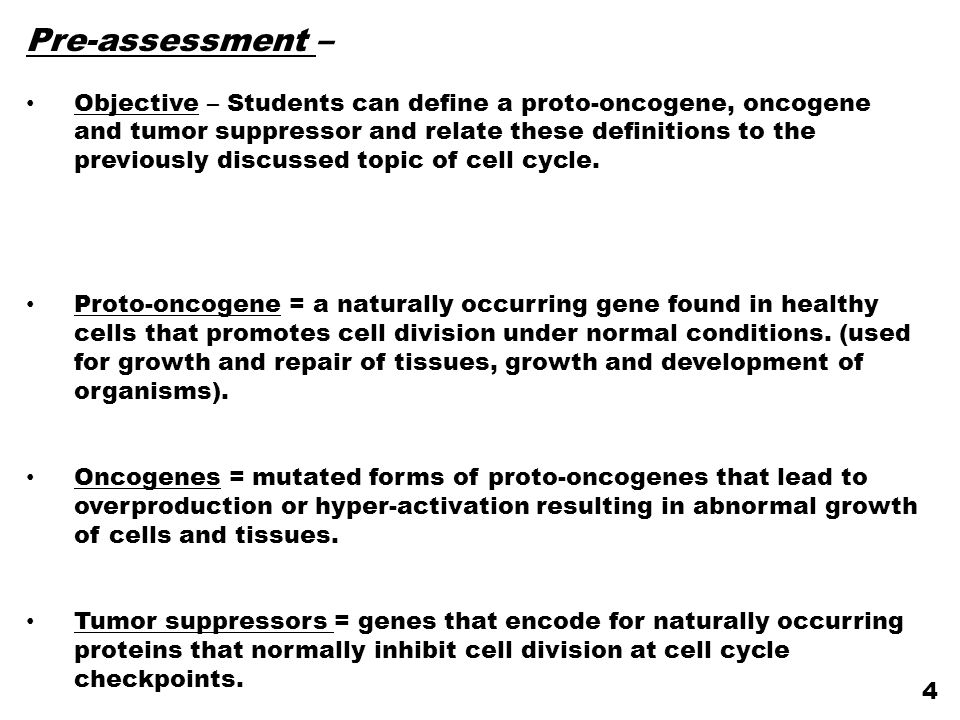 Concept check What is the difference between how a proto-oncogene and a tumor suppressor are mutated to promote cell cycle progression.