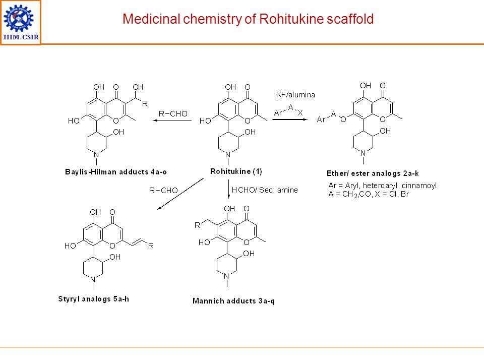 IIIM-CSIR Medicinal chemistry of Rohitukine scaffold