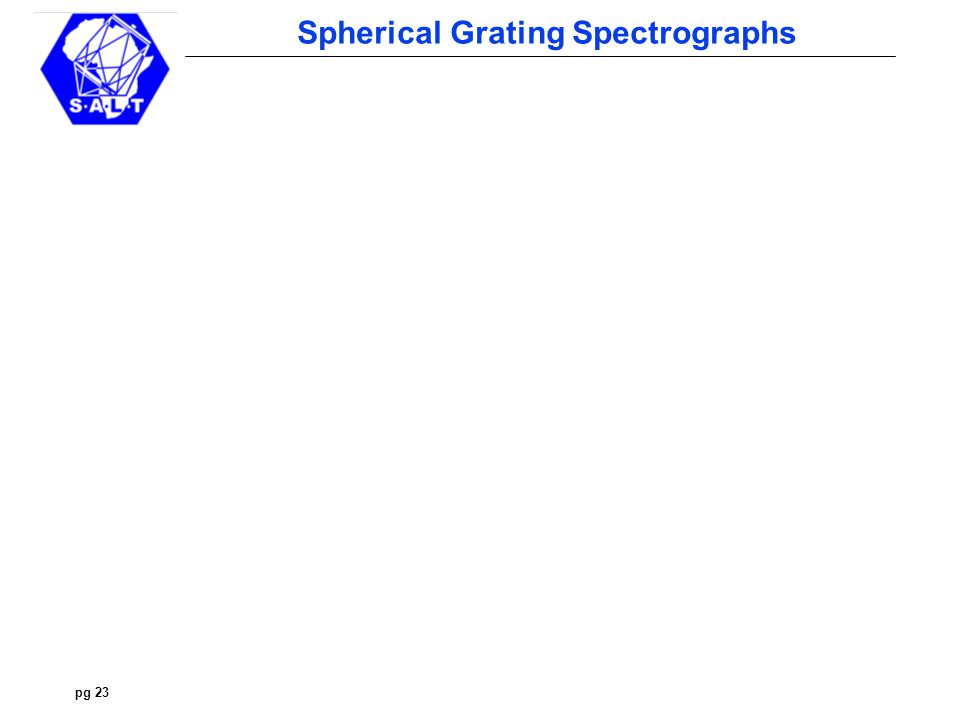 pg 23 Spherical Grating Spectrographs