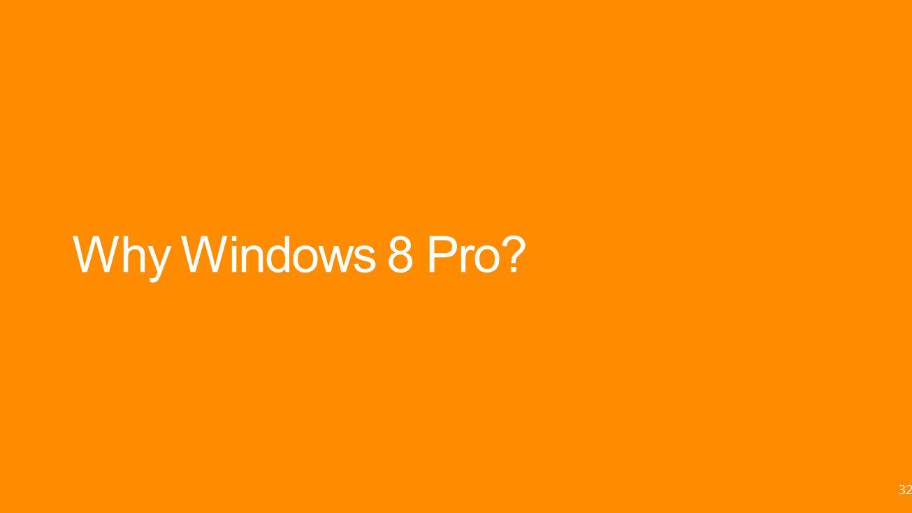 Why Windows 8 Pro? 32