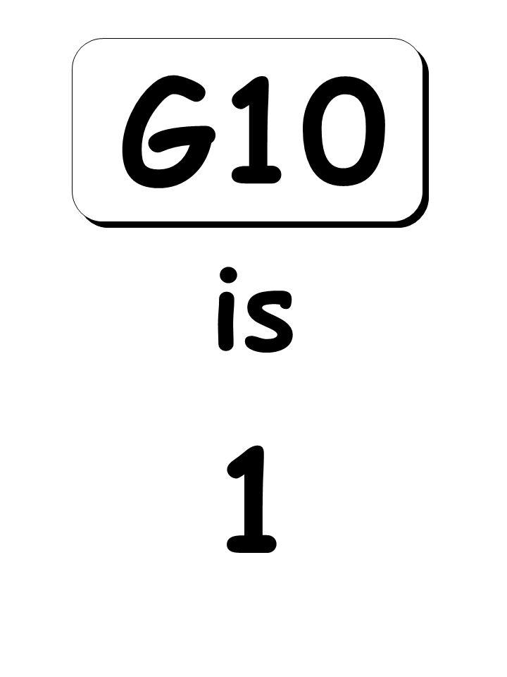 1 is G10