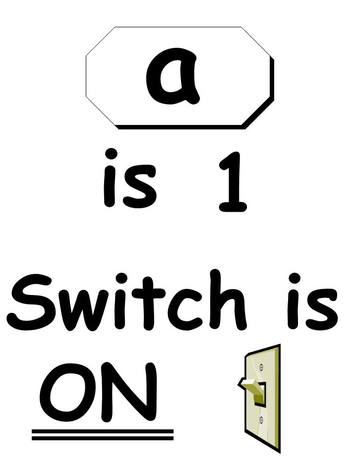 Switch is ON is 1 a