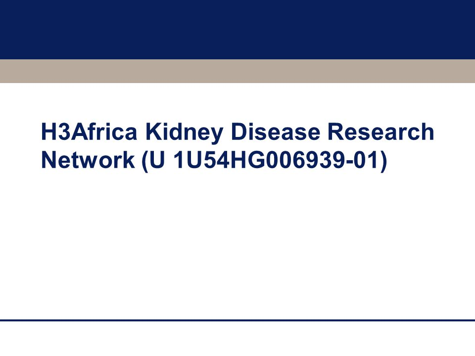H3Africa Kidney Disease Research Network (U 1U54HG006939-01)