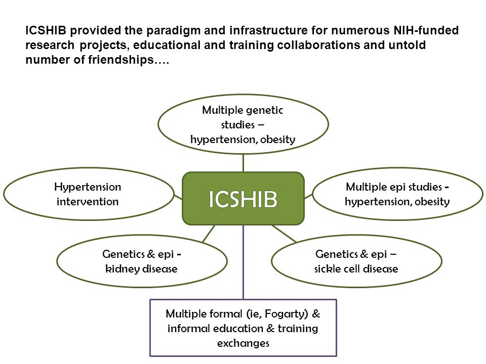 ICSHIB provided the paradigm and infrastructure for numerous NIH-funded research projects, educational and training collaborations and untold number of friendships….