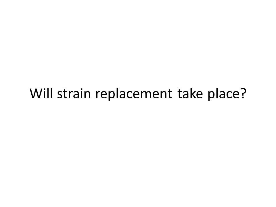 Will strain replacement take place?