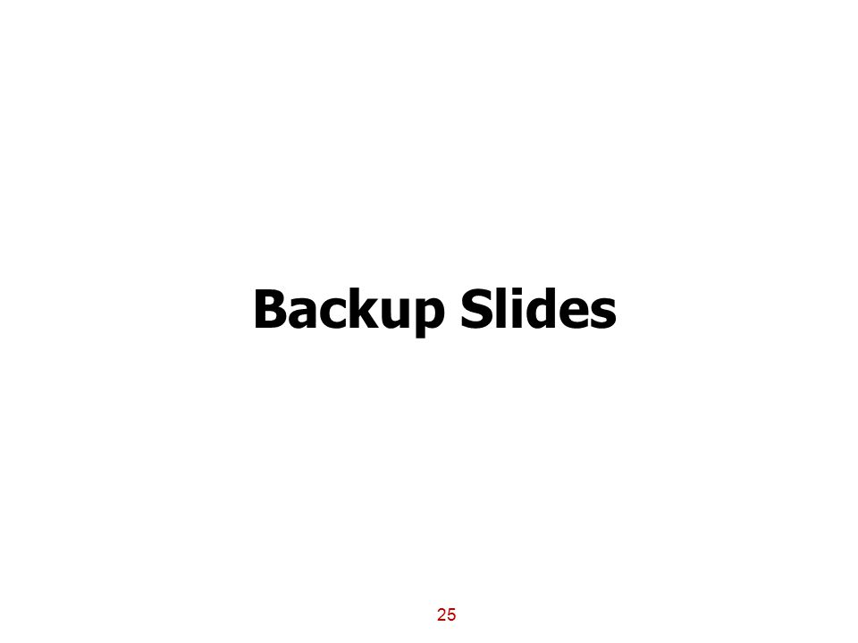 25 Backup Slides