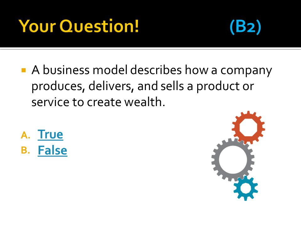  A business model describes how a company produces, delivers, and sells a product or service to create wealth.