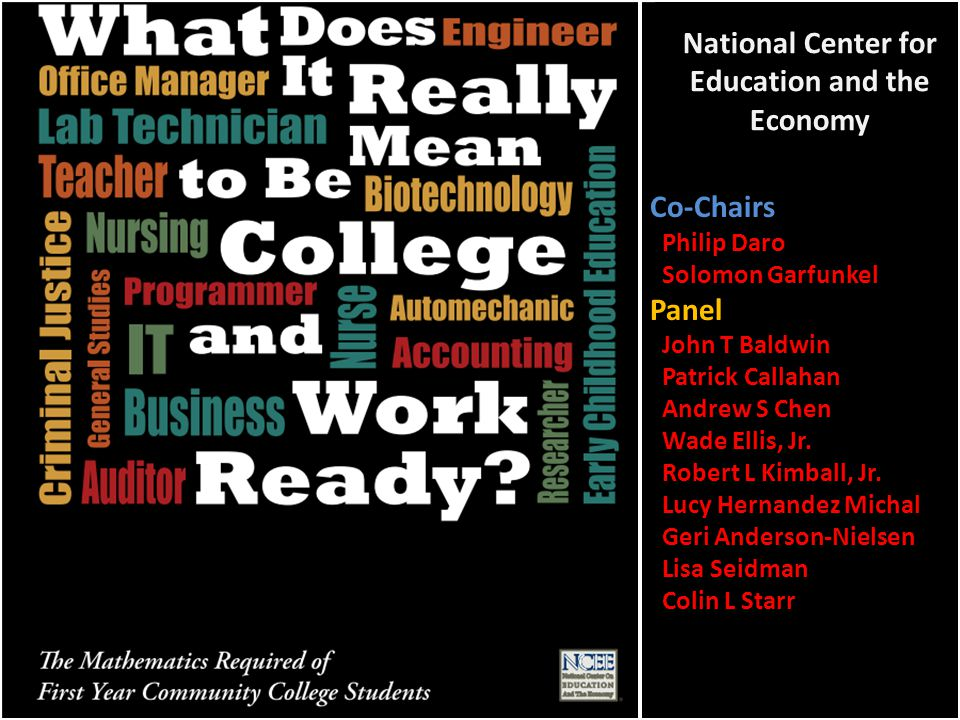 College and Career Readiness With the growing complexity of the world and the increasing demands of the 21st-century workforce, there is little question that all students should be prepared for college, careers, and life.