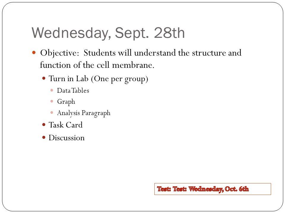 Wednesday, Sept.