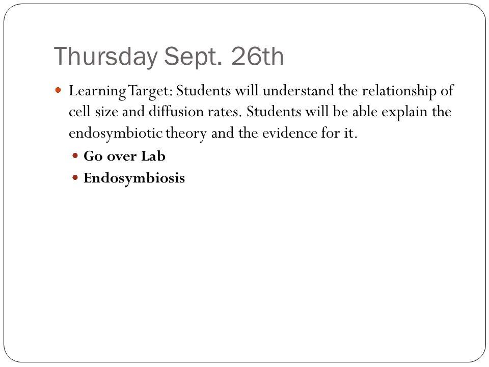 Thursday Sept.
