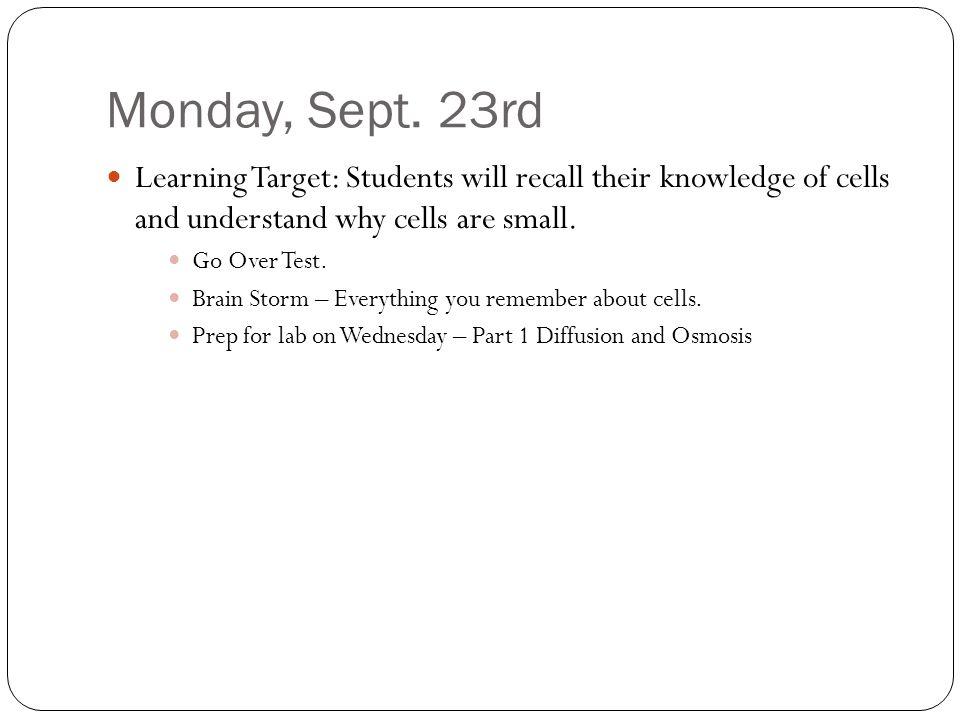 Monday, Sept.