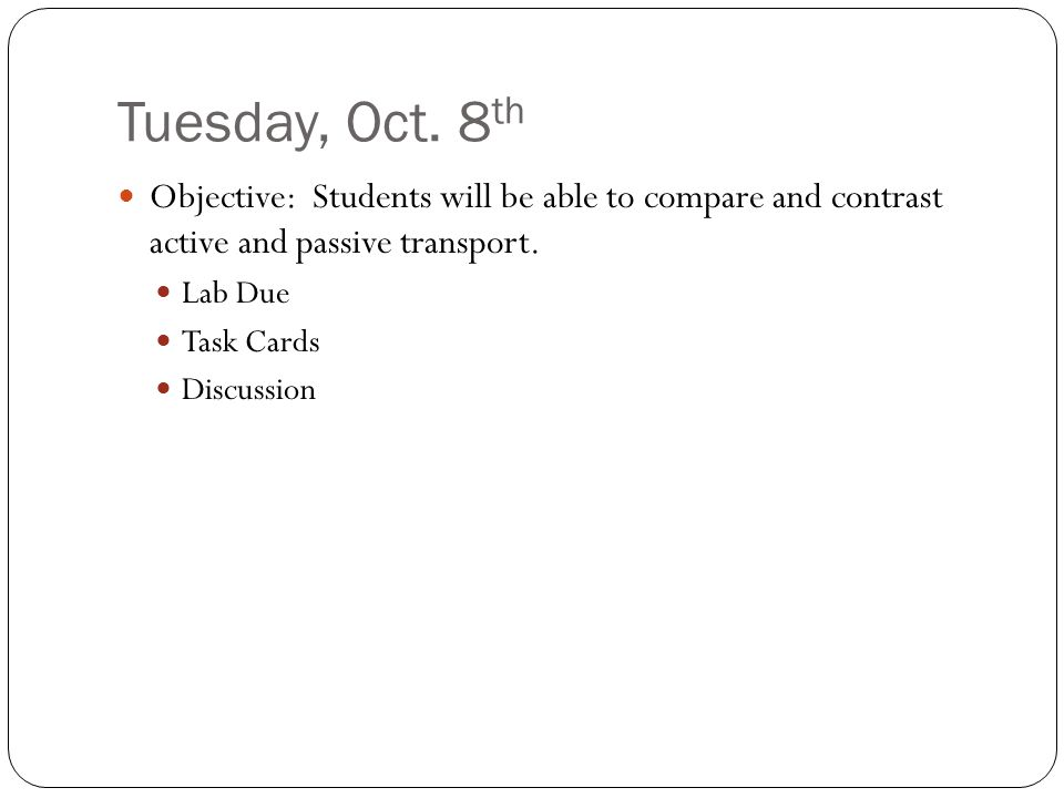 Tuesday, Oct.