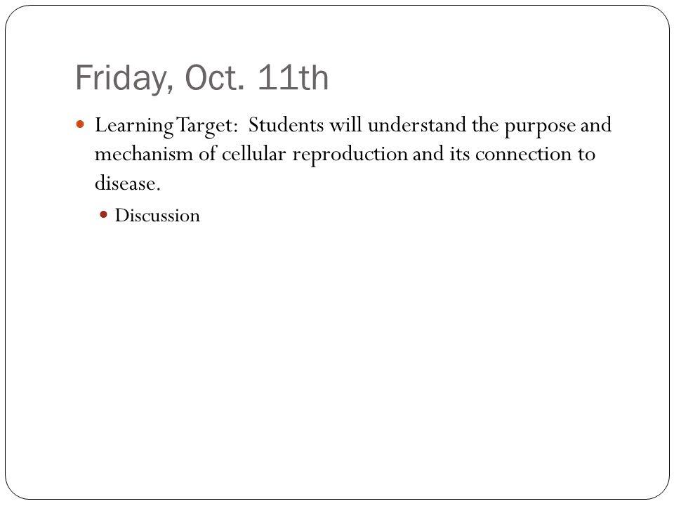 Friday, Oct.