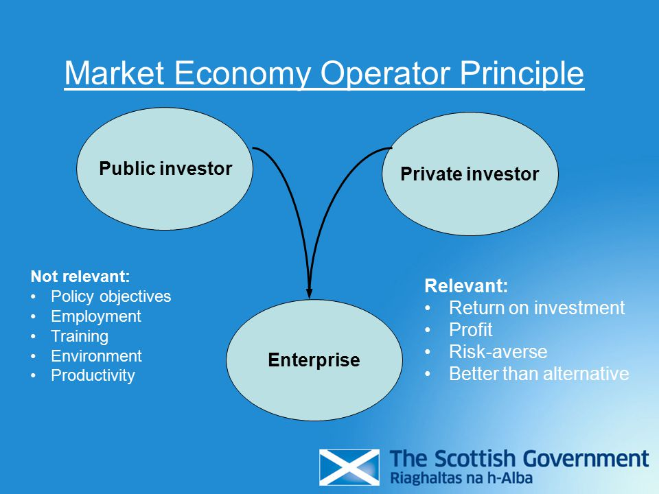 Investor or public authority.
