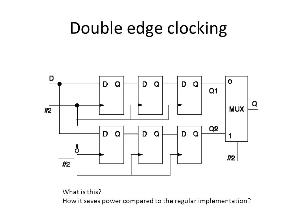 Double edge clocking What is this How it saves power compared to the regular implementation
