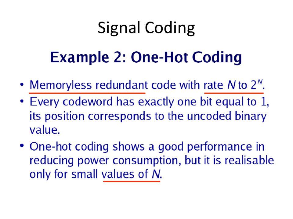 Signal Coding