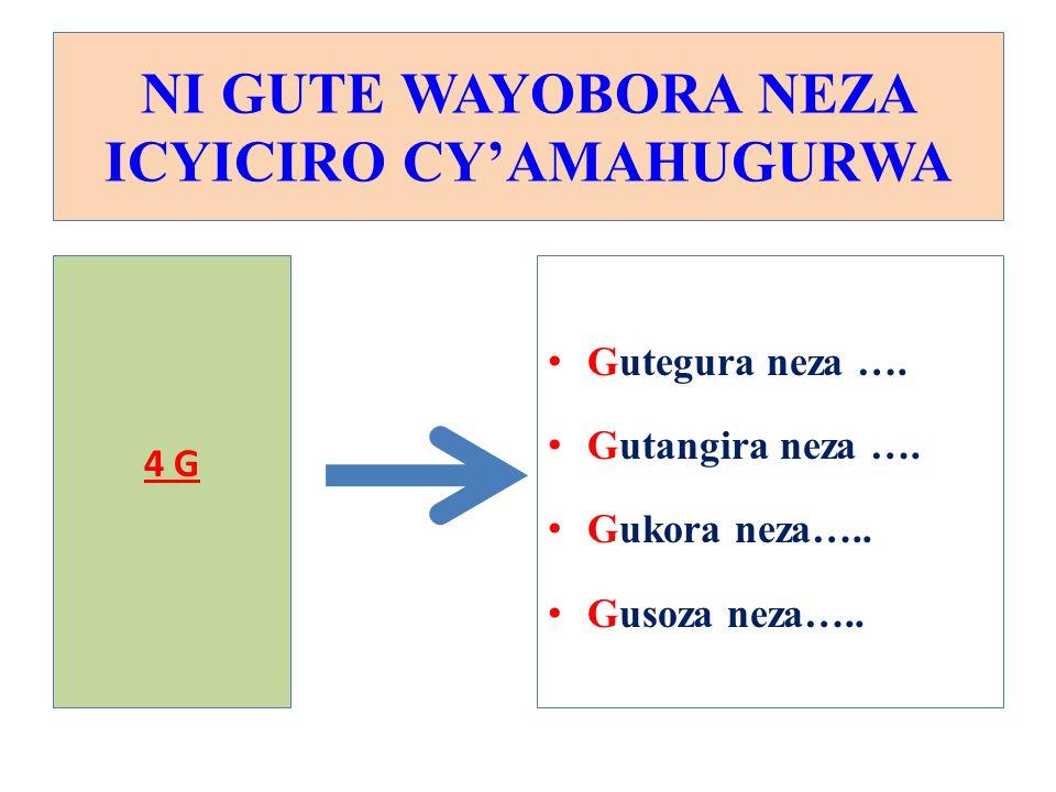 G1: GUTEGURA NEZA ICYICIRO CY'AMAHUGURWA 1.