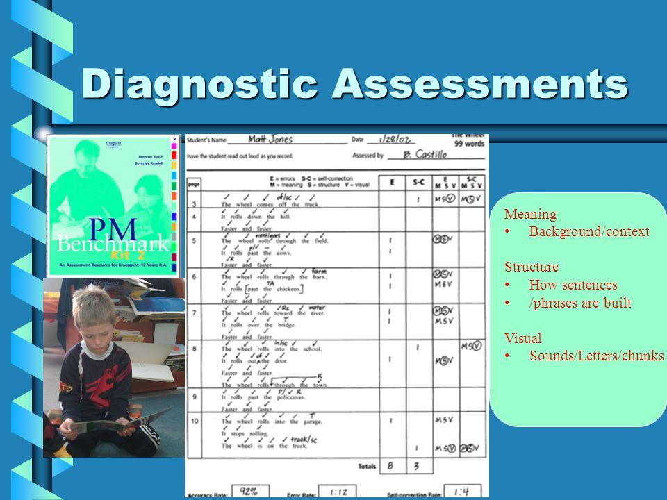 Diagnostic Assesments