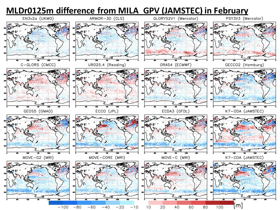 MLDr0125m difference from MILA_GPV (JAMSTEC) in February [m]