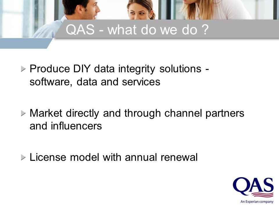 QAS - what do we do .
