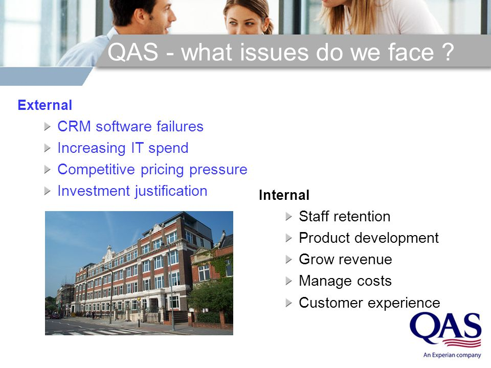 QAS - what issues do we face .