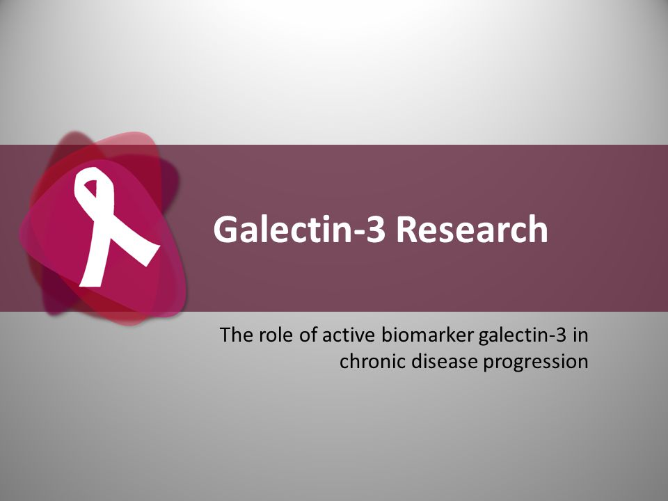 Galectin-3 Research The role of active biomarker galectin-3 in chronic disease progression