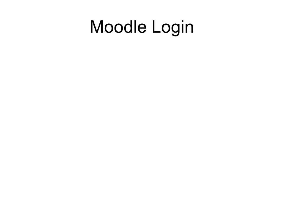 Moodle Login
