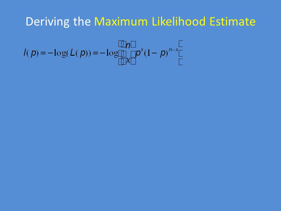 Deriving the Maximum Likelihood Estimate