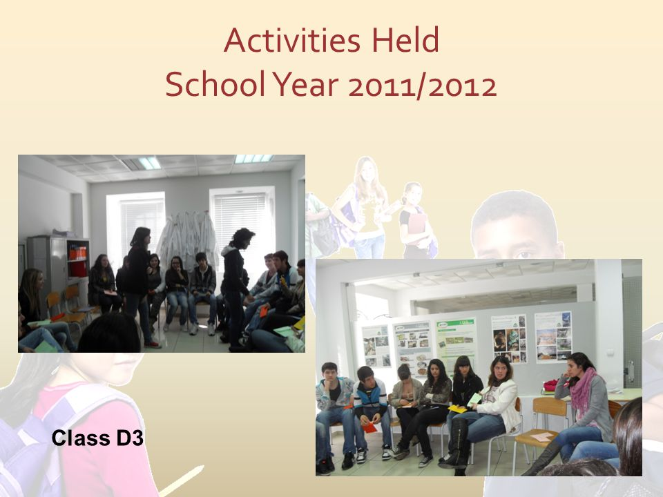 Activities Held School Year 2011/2012 Class D3